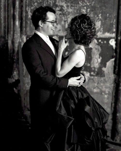 Знаменитости, отправившиеся под венец в черном платье. Фото -