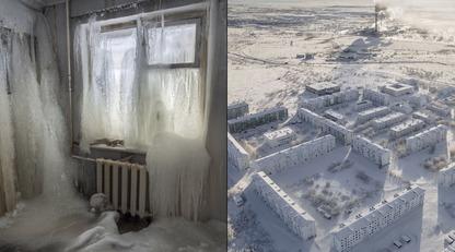 Царство крижаних будинків: з'явилися приголомшливі фото міста-примари за Полярним колом