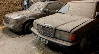 В курнику випадково знайшли два забутих Mercedes-Benz - вони стояли там більше 20 років: фото